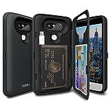 LG G5 Case, TORU [CX PRO] G5 Wallet Case - [CARD SLOT][ID HOLDER] Protective Hidden Wallet Case with Mirror for LG G5 - Metal Slate