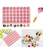 Silicone Gummy Chocolate Baking Mold with 1x Dropper Ice Tray Cake Decorating Molds Cookie Candy Jelly Cupcake Topper Muffins Decor Snacks Mould Nonstick Cute Party Sugarcraft Bakeware Tool DIY