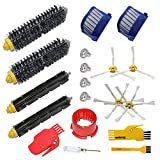 Accessory Kit for Irobot Roomba 600 Series Robot Vacuum Cleaner Replacement Parts 529 585 595 600 610 620 630 650 660 670 Pack of 2 Beater Brushes,2 Bristle Brushes,2 Hepa Filters,4 Side Brushes,4 Screws,2 Cleaning Tools