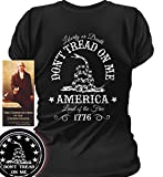 Sons of Libery Don't Tread on Me. Liberty or Death. Wom Black/SM T-Shirt
