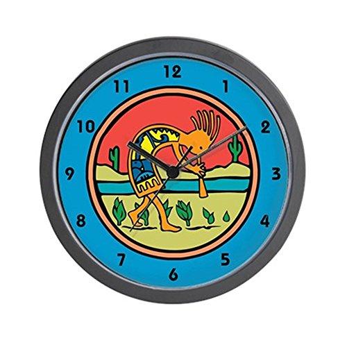 CafePress - Kokopelli 17 Wall Clock - Unique Decorative 10