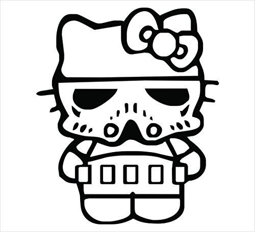 HELLO KITTY STORM TROOPER STAR WARS SANRIO LOGO VINYL STICKERS SYMBOL 5.5