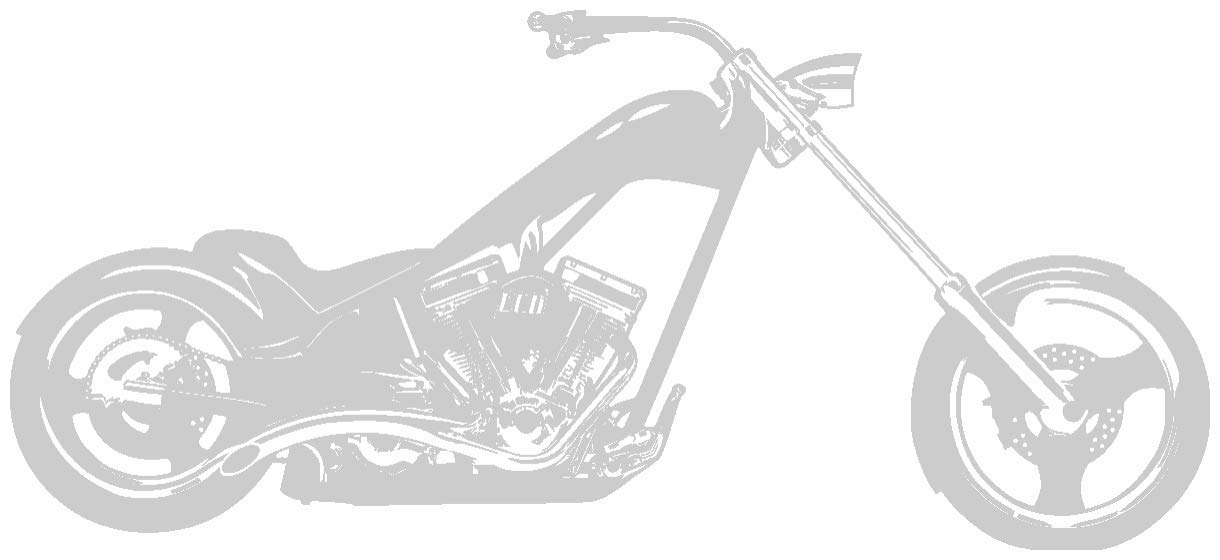 Samunshi® Wandtattoo Chopper Wandaufkleber in 10 10 10 Größen und 19 Farben (120x54cm schwarz) B00V65C19G Wandtattoos & Wandbilder fb9226