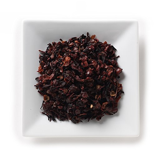 - Mahamosa Cherry Herbal Tea 2 oz - Loose Leaf Herbal Fruit Tea Blend (Cherry, elderberry, rose hips, hibiscus, cranberry, blackberry, and raspberry with cherry flavor)