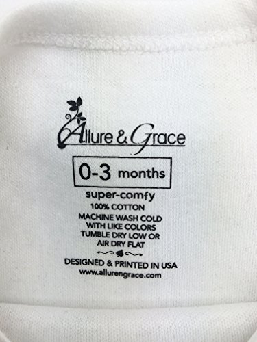 Allure & Grace Mind On My Mommy #Laidback Hoodie Onesie Funny Novelty Infant Baby Bodysuit