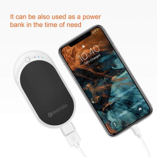 MOCOLO Hand Warmers Rechargeable Best Winter Gifts for Family and Friends Electronic Portable Pocket Hand Warmers Reusable 5200mAh Power Bank Great for Outdoor Sports