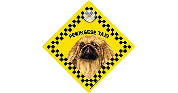 Amazon.com: Pekinés ventana Swinger Taxi señal de perro ...