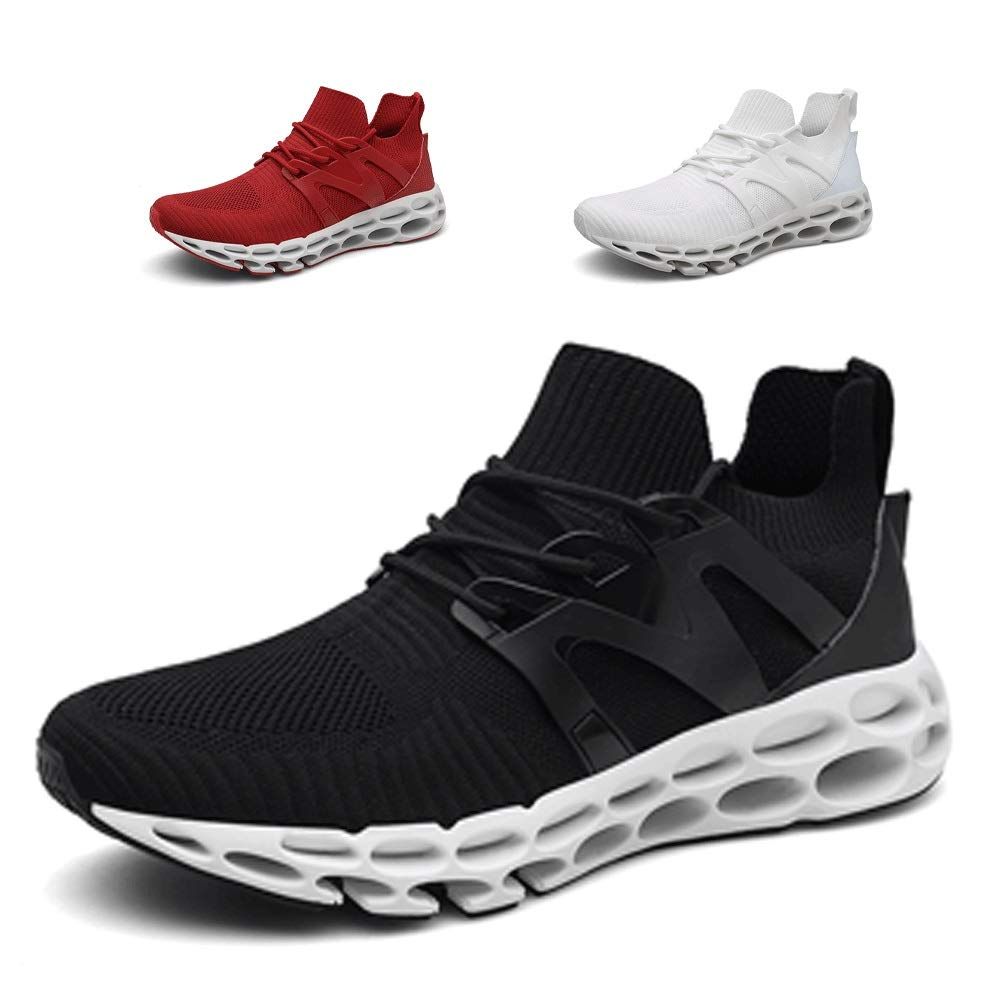 Noblespirit Men s Classic Lace-up Sneaker Fashion Abrasion Youth Big Boys Low-top Soft Sole Outdoor Sports Trail Running Shoe Lightweight Walking Shoes for Men