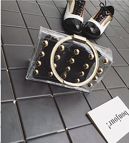 Sac À Jelly KLXEB Black Femme À Transparent Sac Sac À Main Transparent Sac Emballage Main AS17AYp