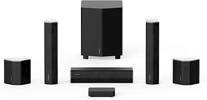 Enclave CineHome II Wireless 5.1 Home Theater Surround Sound - CineHub Edition Bundle | 24 Bit Dolby Audio & DTS | WiSA Certified
