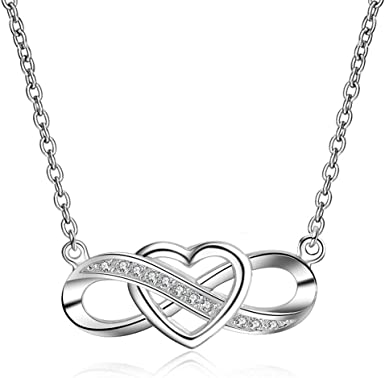 Engraved Pendant Necklace Love Heart Sterling Silver Quote Granddaughter forever in my heart Women