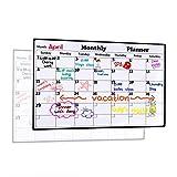 Magnetic Dry Erase Calendar for Fridge 16.9'' x 11.8'' - 2018 White Board Calendar Planner for Kitchen Refrigerator, Monthly Erasable Refrigerator Calendar, Stain Resistant, Strong Magnets