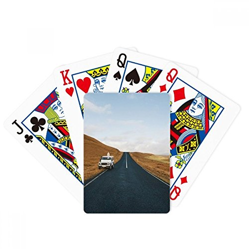 Autumn Car Country Road Travel Sky Grass Poker Playing Cards Tabletop Game Gift by beatChong