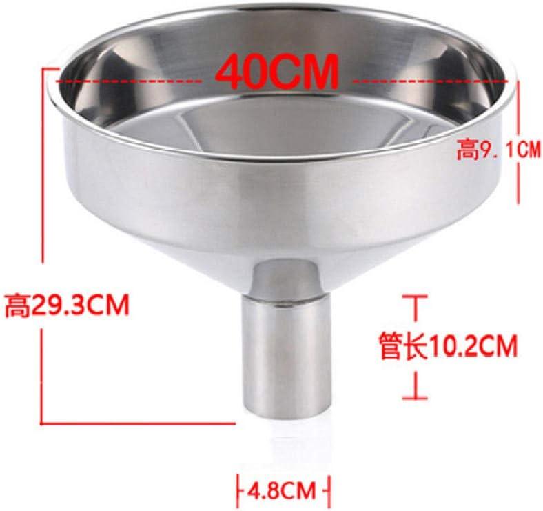 huanglingyun Embudo de aceite engrosado 304 art/ículos de cocina de acero inoxidable Calibre 18CM peque/ño embudo