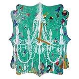 Deny Designs  Kent Youngstrom, Emerald Chandelier, Quatrefoil Clock, Medium