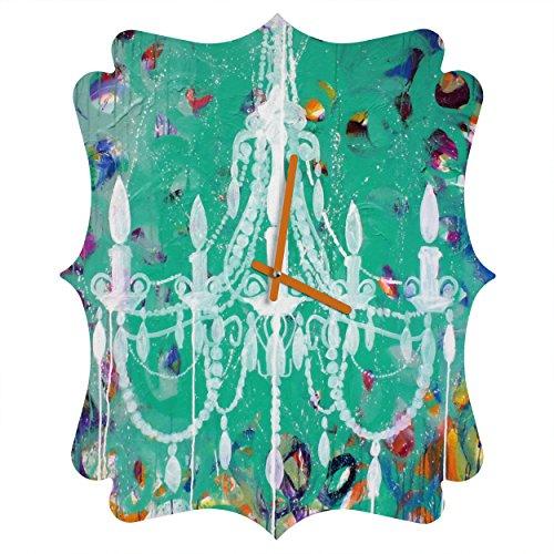 Deny Designs  Kent Youngstrom, Emerald Chandelier, Quatrefoil Clock, Medium by Deny Designs