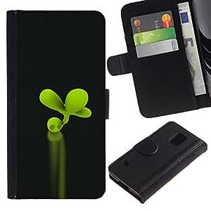All Phone Most Case / Oferta Especial Cáscara Funda de cuero Monedero Cubierta de proteccion Caso / Wallet Case for Samsung Galaxy S5 V SM-G900 // Clover