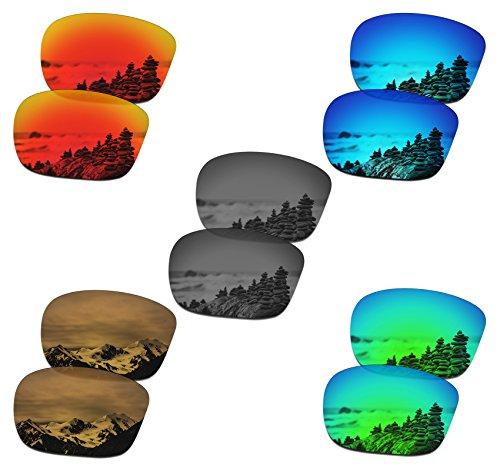 SmartVLT Set of 5 Mens Replacement Lenses for Oakley Sliver F Sunglass Combo Pack S02