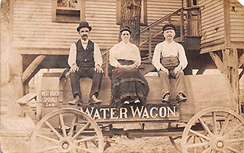 (Water Wagon West Baden, Indiana postcard)