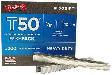 Arrow 506-IP T50 3/8-Inch Staples, 5000-Pack ()