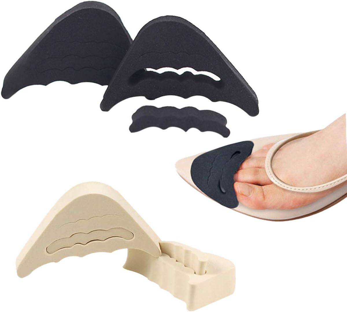 Details about  /4Pcs Shoe Filler Inserts Unisex Sponge Toe Plug Foot Brace to Make Big Shoes Fit
