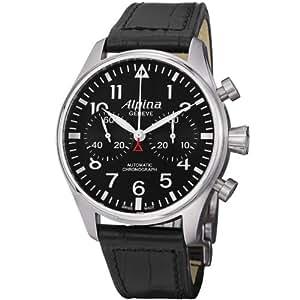 Alpina Men's AL860B4S6 Analog Display Swiss Automatic Black Watch