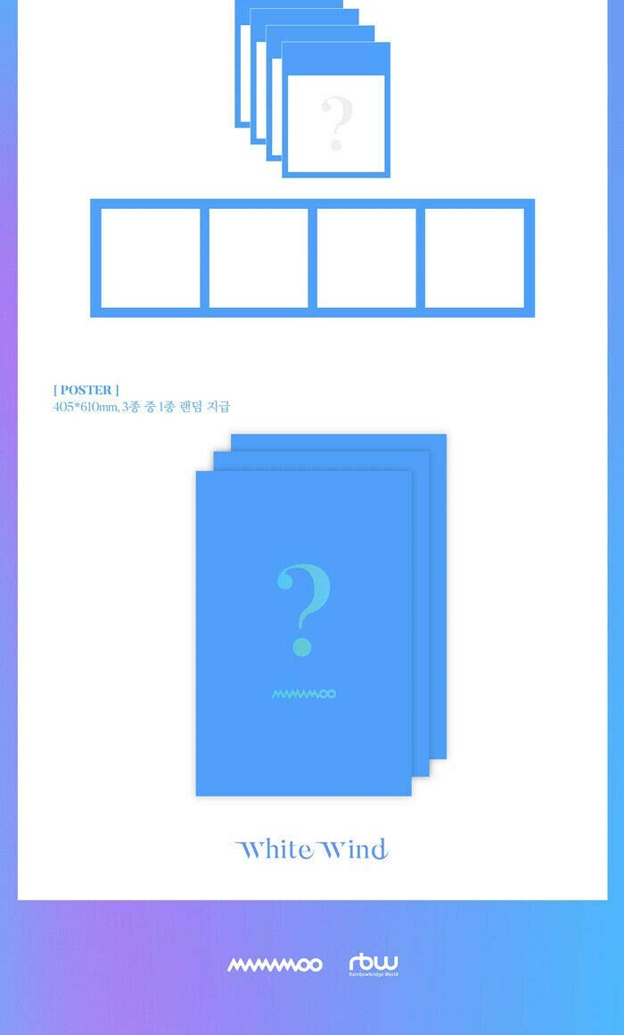 K-POP MAMAMOO - 9th Mini Album [WHITE WIND] Music CD + Photo Book + Photo Card + Photo Frame & Special Card + Folded Poster + Tracking Number KPOP Sealed by RBW