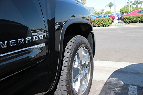 2013 Fender Trim - Carrichs 2007-2013 Chevrolet Silverado 1500 / 2500HD Matte Black Stainless Steel Fender Trim