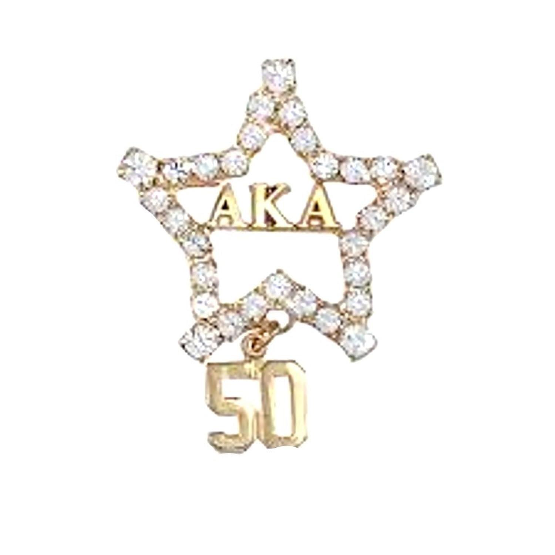 アルファKappa Alpha SororityクリスタルStar brooch-pin B075ZGG2G6
