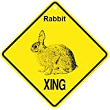 Rabbit Xing caution Crossing Sign wildlife Gift