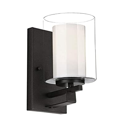 Design House 578153 Impala Traditional Indoor Wall Light Dimmable with Double Glass, Rustic Bronze, 1