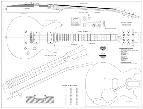 Set Of 4 Electric Guitar Plans Gibson Les Paul