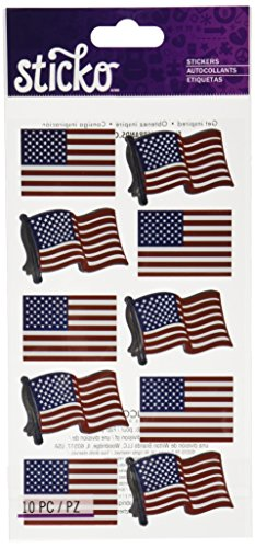 Sticko 52-00339 Waving Flags, Multicolor