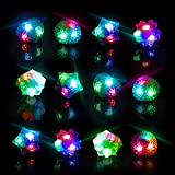 #9: Glow Rings LED Party Favors for Kids – Light Up Rings Glow in The Dark Party Supplies, LED Finger Lights, Halloween Costume and Rave Accessories (36pk)