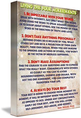 Amazon Wall Art Print Entitled Living The Four Agreements