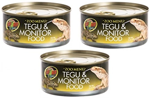 (3 Can Pack) Zoo Menu Tegu and Monitor Canned Food Zoo Med Laboratories Inc SHOMHNK004