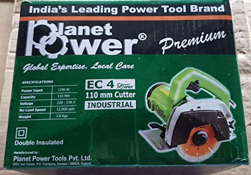PLANET POWER 220-230V 1200W EC4 Tile/Wood Cutter Without Cutting Blade (4 Inch) 2