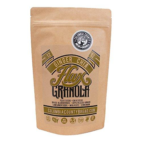 Columbia County Ginger Chia Flax Granola  12 Oz   The Plan Friendly