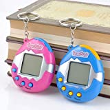 Kaimu Child Electric Pet Toy Nostalgic Tamagotchi Virtual Cyber Tiny Funny Game Machine (Solid Color)