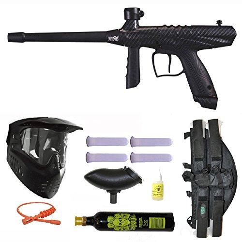 Tippmann Gryphon FX Paintball Marker Gun 3Skull 4+1 9oz Mega Set - Carbon Fiber