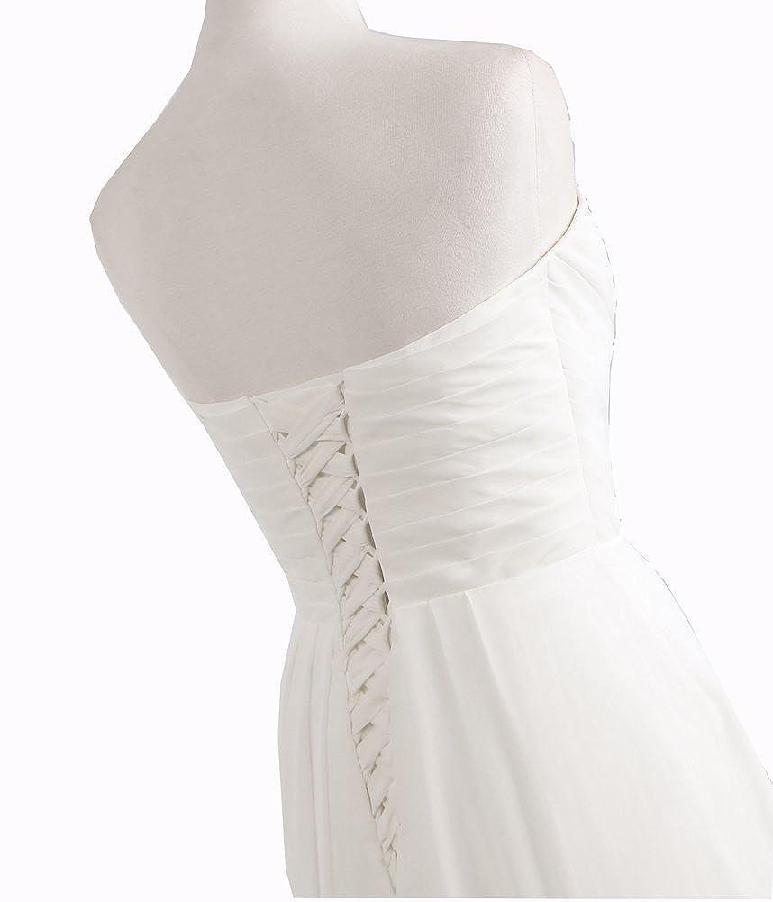 Amazon.com: 2017 Venda Quente Uma Linha chiffon Vestidos de Casamento Beading Vestido de Noiva Longo de cristal barato Robe De Mariage Com Pregas: Clothing
