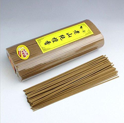 2500 Silk Art High Class LaoShan Sandalwood 27 cm Sticks Scents Incense Pack 500g 530 piece for Yoga Zen and Deep Meditation and Feng Shui Air Fresh AMU500-27