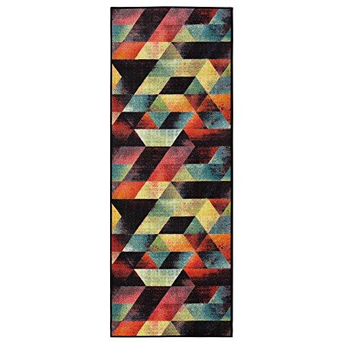 Ottomanson Rainbow Collection Non-Slip Modern Abstract Art Deco Design Kitchen Runner Rug, 20