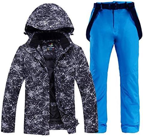 LilyAngel メンズや女性のスノーウェアスノーボードは防水防風透湿性アウトドアスポーツスキースーツのジャケットとベルトパンツを設定します。 (色 : 13, サイズ : M)