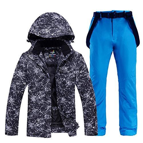 Sceliny メンズや女性のスノーウェアスノーボードは防水防風透湿性アウトドアスポーツスキースーツのジャケットとベルトパンツを設定します。 (色 : 13, サイズ : L)