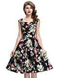 A-Line Retro Style Wiggle Dresses Ruched Bodice Size L BP105-1