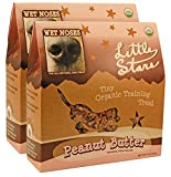 Wet Noses Little Stars Dog Training Treats, Made in USA, 100% All Natural Organic Ingrediants, 9 oz Box (Peanut Butter, 2-Pack)