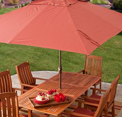 Aluminum Oval Shade Patio Umbrella - 9