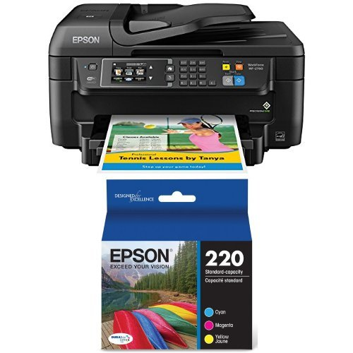 Epson WF-2760 All-in-One Wireless Color Printer with Scan...