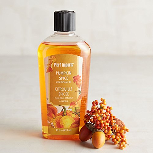 New Pier One Pumpkin Spice Fragrance Reed Diffuser Refill Oil 16 - Diffuser Reed Pumpkin Spice